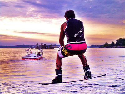 Summer Water Sports Wakeboarder