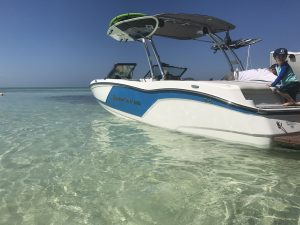Mastercraft in water in Grand Cayman