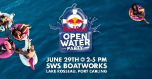 Red Bull Open Water Party @ SWS Boatworks Port Carling, Rosseau Side
